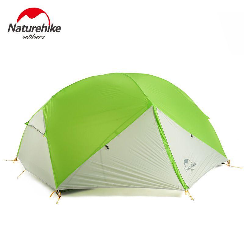 Naturehike Fabrik Shop DHL freies verschiffen Mongar 2 Camping Zelt Doppel Schichten 2 Person Wasserdichte Ultraleicht Kuppel Zelt