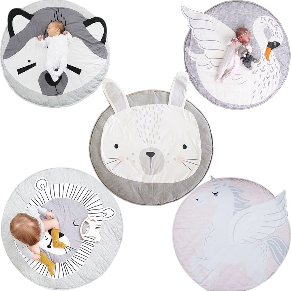Animal climbing carpet baby play mats newborn infant soft sleeping mat cotton Rabbit Lion Raccoon Swan Pegasus Koala Cat Bear
