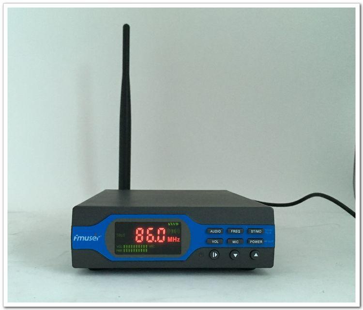 FU-X01CK 1 Watt FM Transmitter + netzteil + Antenne Paket (8G TF Karte + Batterie + Bluetooth)