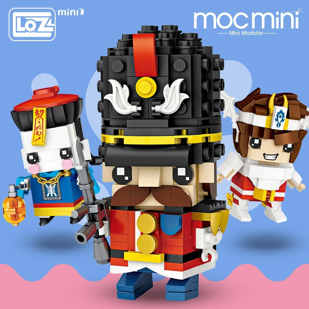 LOZ Mini Blocks Zombie Soldier Warrior Goddess Model Building Kits Arm Brick Figures Single Moc Building Blocks Hero Headz Toys