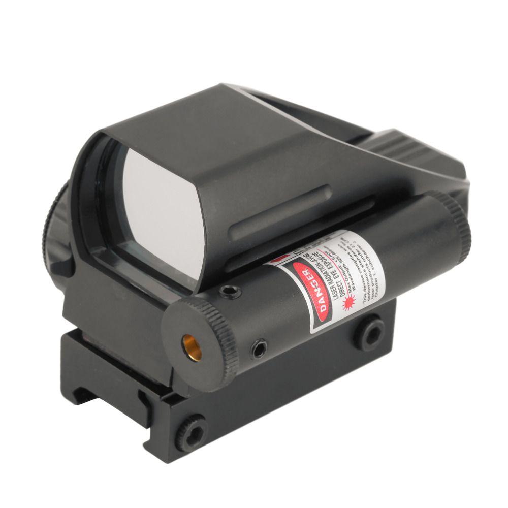 Taktische Holographic Reflex Red/Grüner Punkt-bereich 4 Absehen & Red Laser Anblick kostenloser versand