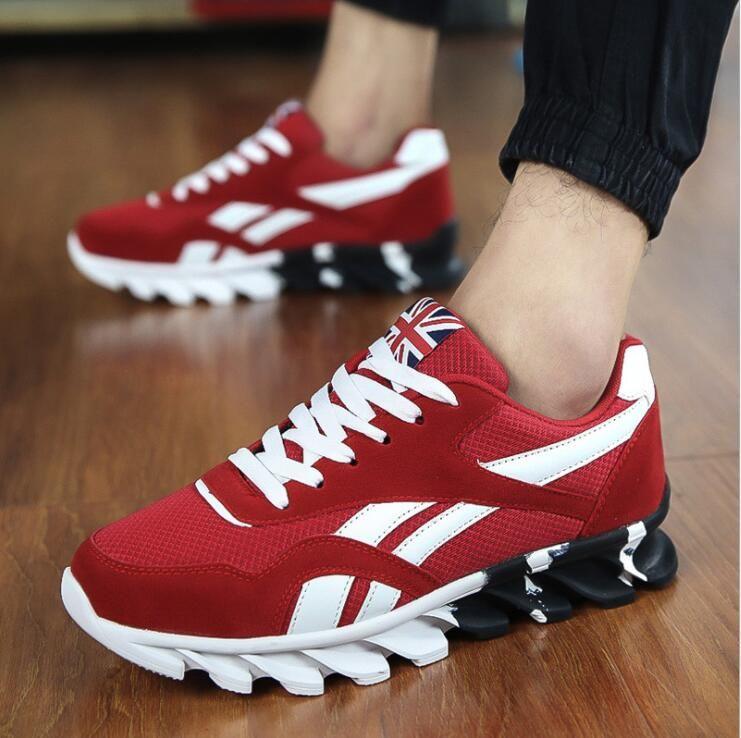 Nouveau printemps automne chaussures décontractées hommes grande Size37-49 Sneaker à la mode confortable maille mode à lacets adultes hommes chaussures Zapatos Hombre
