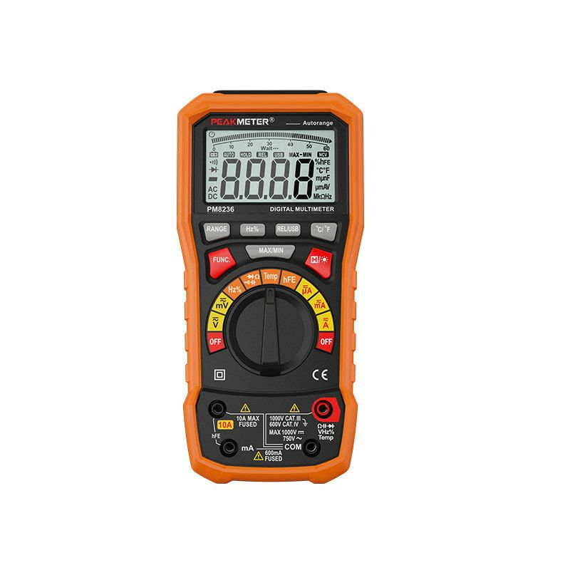 Digital Display Multimeter Hyelec Ms8236 Auto Range Power Off with Temperature Test And Data Logger Termometro Data Logger