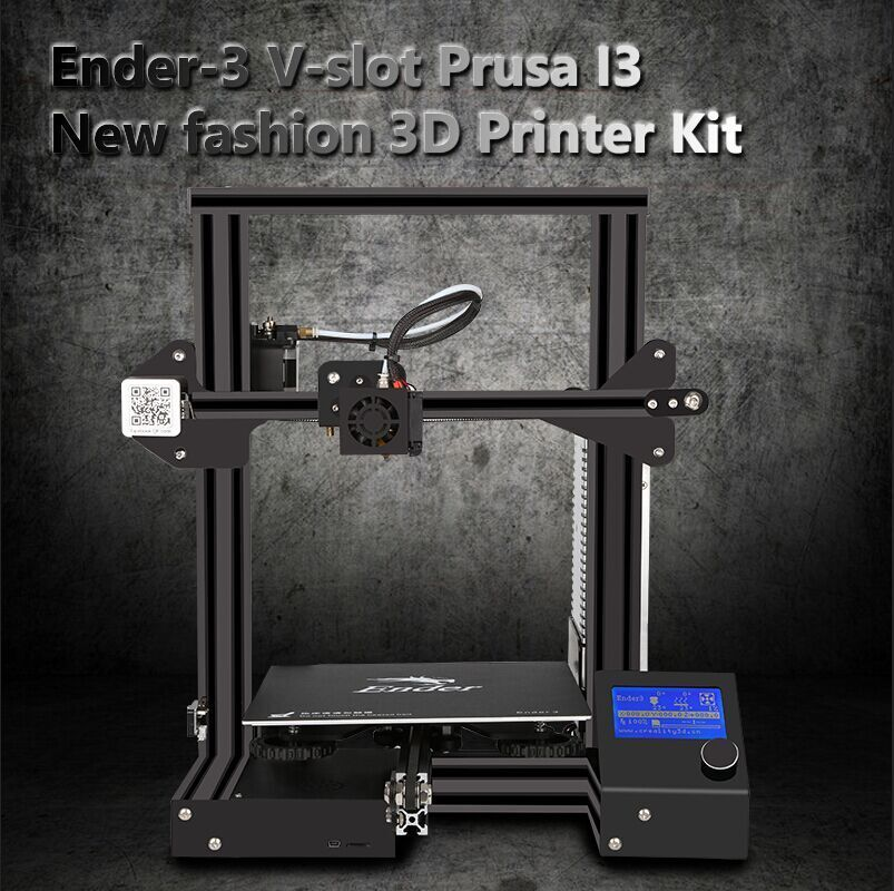 Newest Ender-3 3D Pinter KIT DIY with Tempered Glass Large Print Large Size Continuation power V-slot Prusa i3 Metal Printer 3D
