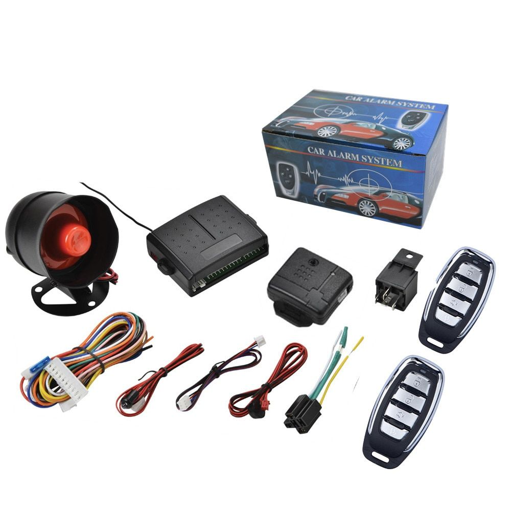 Universal Car Alarm System Auto Central Locking Security Remote System Keyless Entry Remote Control PKE Car Engine Start Stop