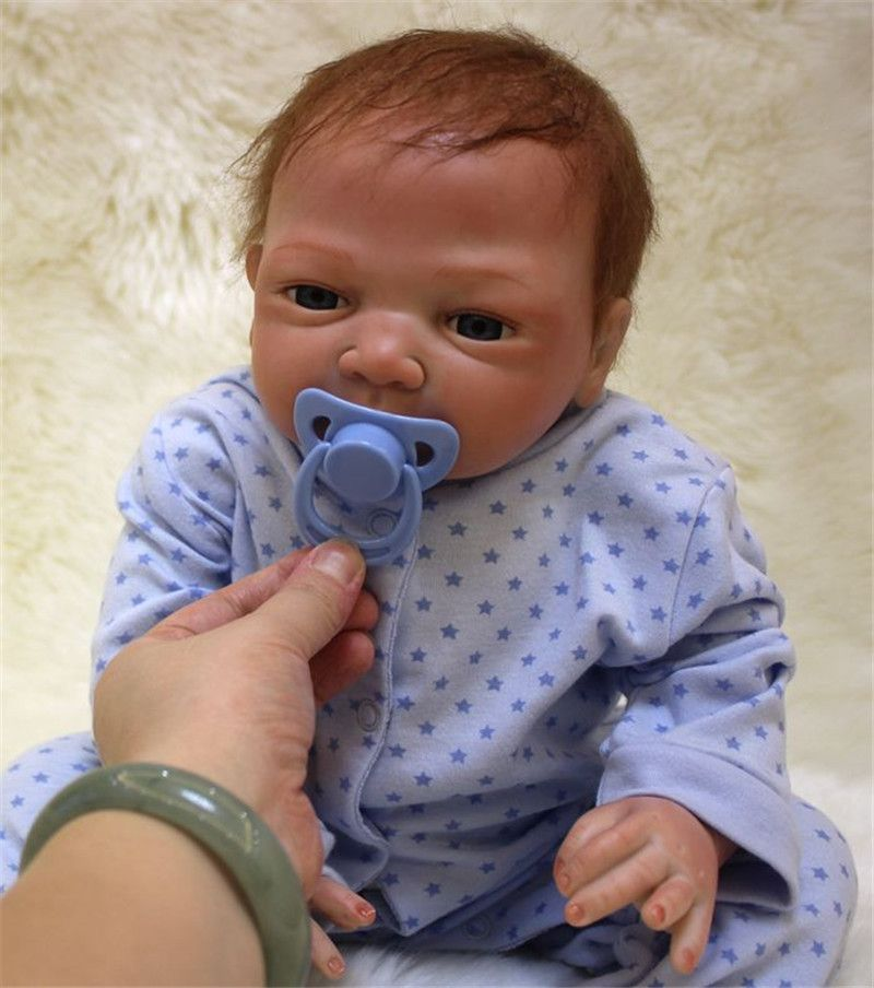 50cm Silicone reborn baby boy doll toy like real 20inch soft body newborn babies doll bebe reborn girls bonecas birthday gift