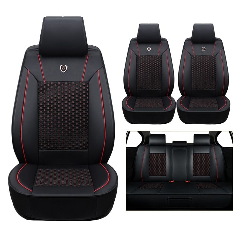 Seat Covers & Supports For Mitsubishi Pajero ASX Outlander LANCER Tire Track Detail Styling Car Seat Protector Crossovers Auto