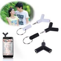2 шт./лот 1 в 2 двойной 3,5 мм адаптер для наушников для Samsumg для iPhone MP3 плеер наушники сплиттер адаптер Белый/Черный