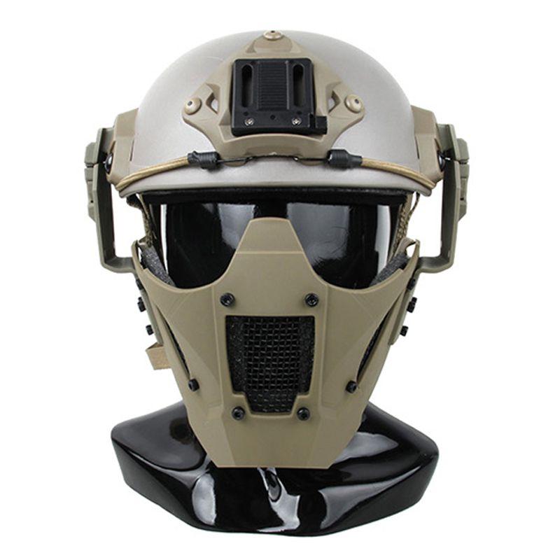 M4 M16 zubehör airsoft taktische paintball schutz JAY SCHNELLE AF helm hälfte gesicht maske für schießen für die jagd
