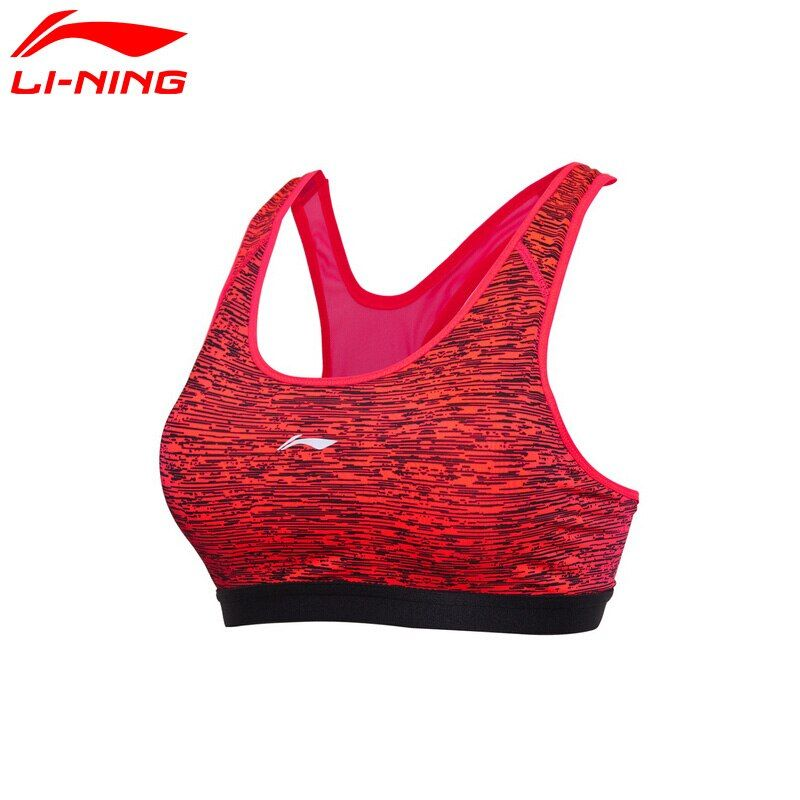 Li Ning frauen Läuft Bhs Medium Unterstützt Engen Fitness 83% Polyester 17% Spandex Futter Breathabl Sport Bras AUBM162 WBJ151