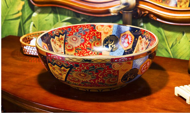 Die bühne becken keramik tisch gesicht becken kunst 385 # continental becken der, waschen ein gesicht