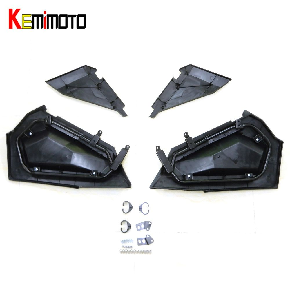 KEMiMOTO Lower Door Panel Inserts for Polaris RZR XP S Turbo 1000 2879509 RZR XP 1000 2014 2015 2016 RZR S 900 1000 2016