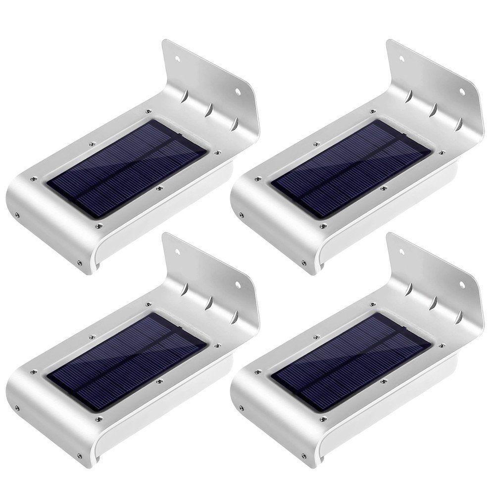 Ledertek 4pcs 16 LED Solar Power Motion Sensor Solar Garden Light Lamp Security Outdoor Lighting Solar Light Led Solar Lamp