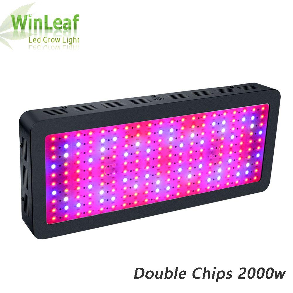 LED wachsen licht Gesamte Spektrum bestva Doppel Chips 2000 Watt schwarz anlage wachsen lampe für gewächshaus zelt hydroponischen Blühen Hohe ausbeute
