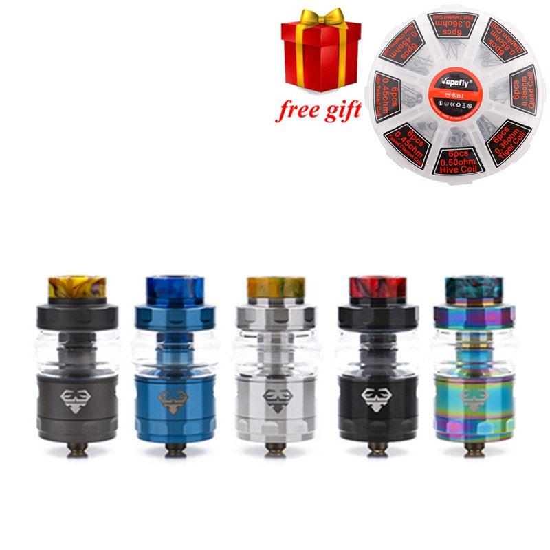 Freies geschenk! GeekVape RTA Geekvape Blitzen RTA elektronische zigarette zerstäuber postless bauen deck gleichmäßigen luftstrom vs geekvape ammit