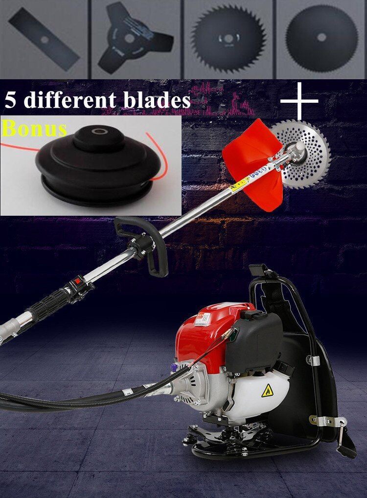 2017 New Backpack Brush cutter with OHC Gx35 4 stroke Engine Grass Trimmer Whipper Snipper brush strimmer Tree Pruner