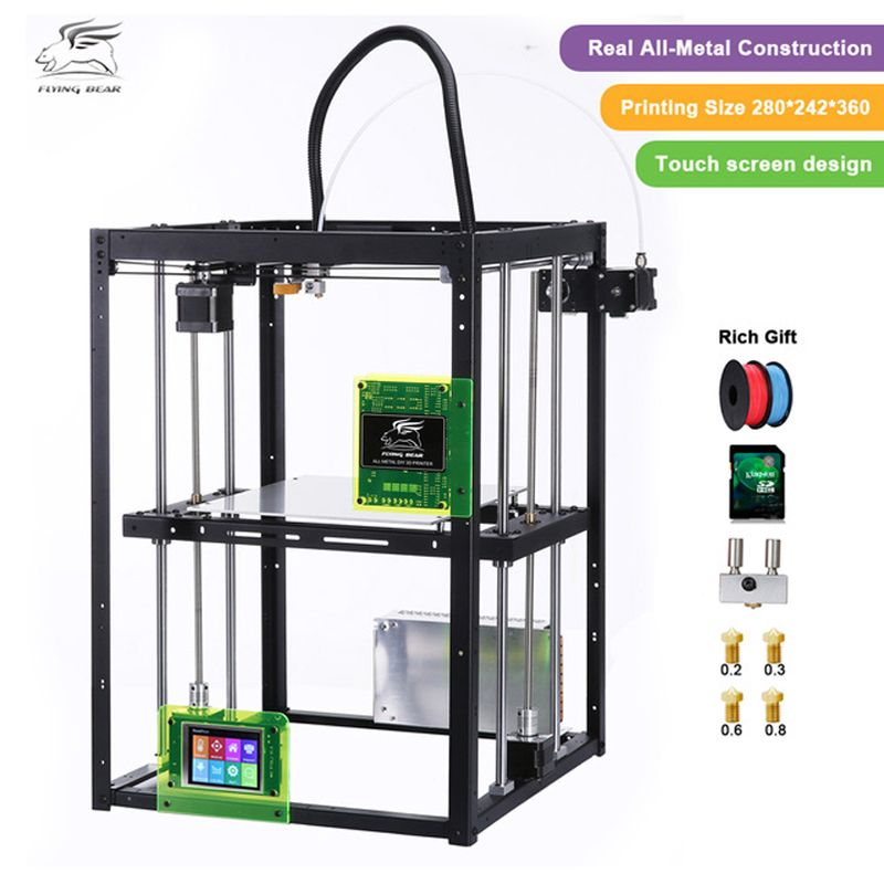 2018 Newest design Free shiping Flyingbear P905X DIY 3d Printer kit Full metal Large printing size High Makerbot Structure