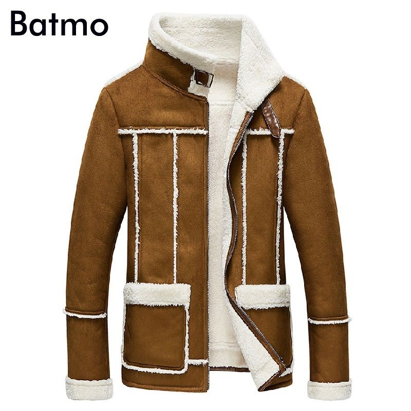 2017 новое поступление зимняя повседневная теплая кашемировая куртка мужчины, Азиатский размер L, XL, XXL, XXXL, XXXXL, Мужская Кожаное пальто