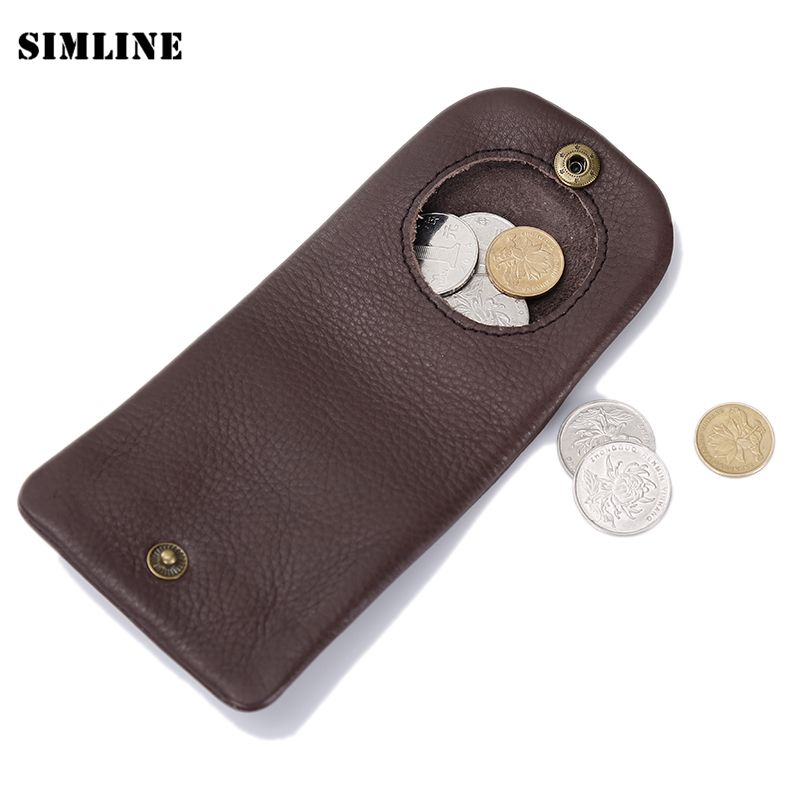 Brand Vintage Casual Handmade 100% Genuine Cow Leather Cowhide Men Women Mens Short Mini Small Wallet Wallets Coin Puse For Man