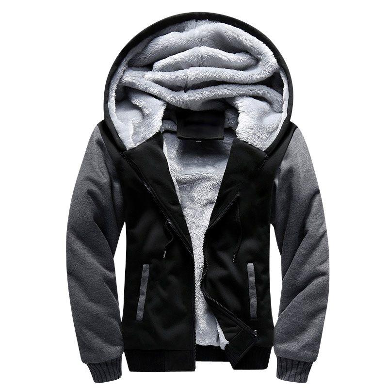 USA SIZE 2017 Men Winter Autumn Blank Pattern European Fashion Bomber Men Vintage Thick Fleece Jacket Men Winter Jackets Coat