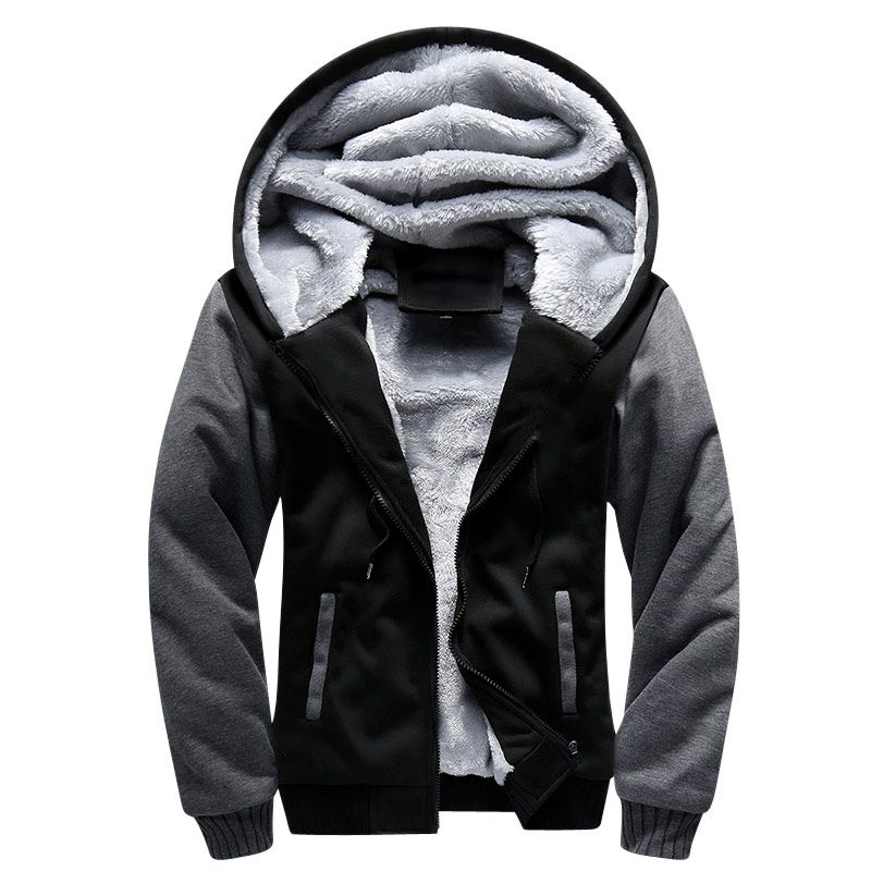 USA SIZE 2018 Men Winter Autumn Blank Pattern European Fashion Bomber Men Vintage Thick Fleece Jacket Men Winter Jackets Coat