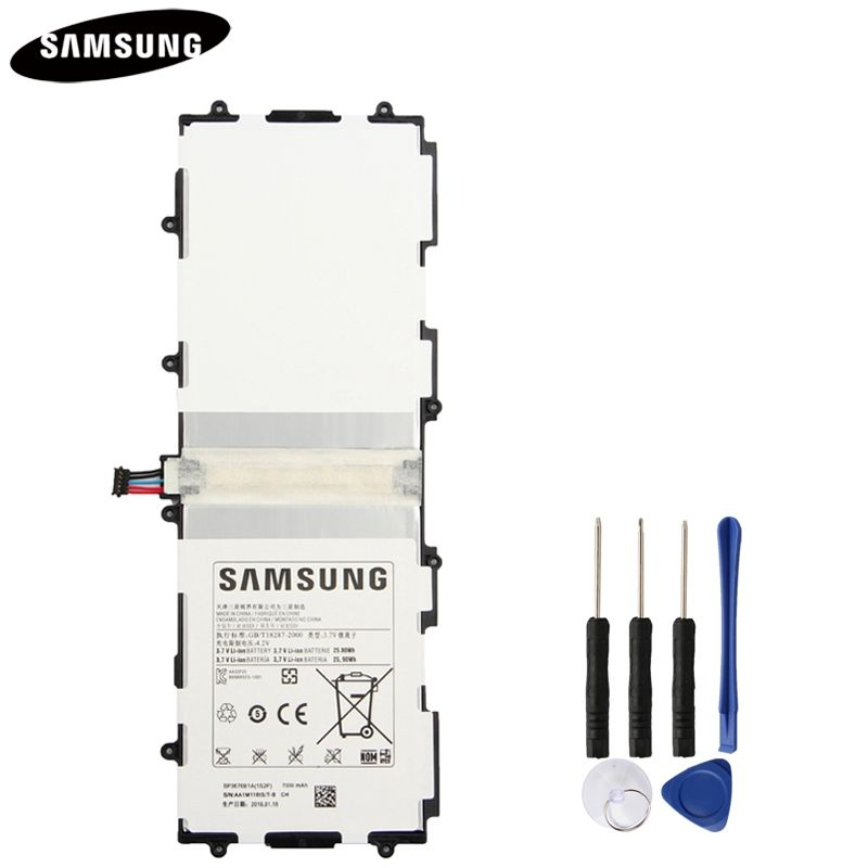 Batterie d'origine SP3676B1A Pour Samsung Galaxy Note 10.1 GT-N8000 N8005 GT-N8010 N8013 N8020 P7500 GT-P7510 P5100 P5113 7000 mAh
