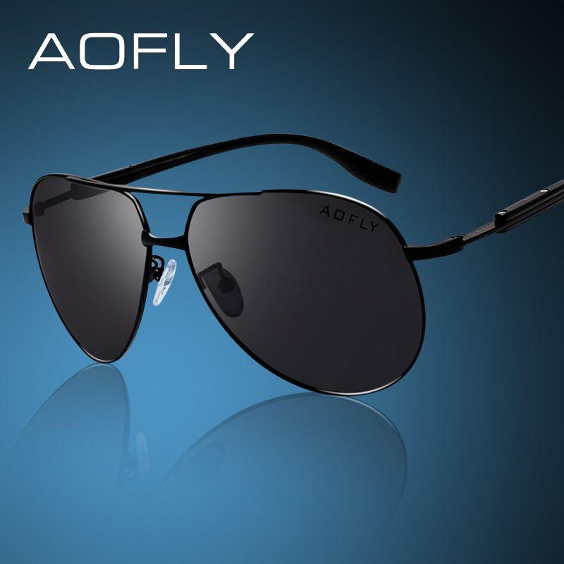 AOFLY Marca HD Gafas de Sol Polarizadas de Los Hombres Masculinos Polaroid Gafas de Sol Gafas de Diseño de Marca Gafas de Sol de Conducción Gafas Clásicas AF8014