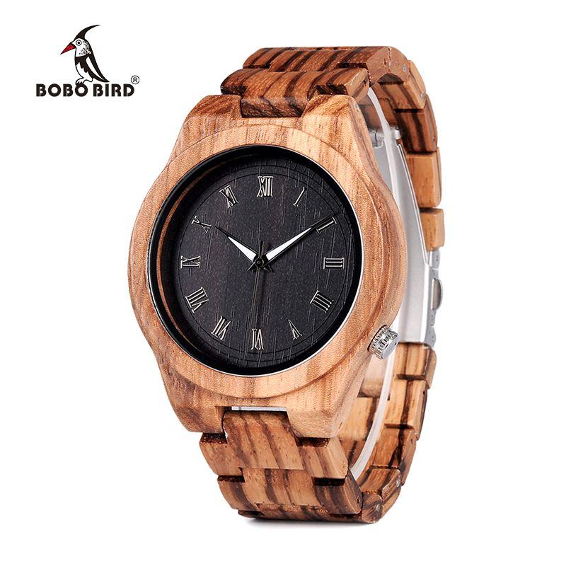 BOBO BIRD Mens Watches Luxury Brand Top Men Watch Relogio Masculino Wooden Wristwatches Timepieces W-M30 DROP SHIPPING