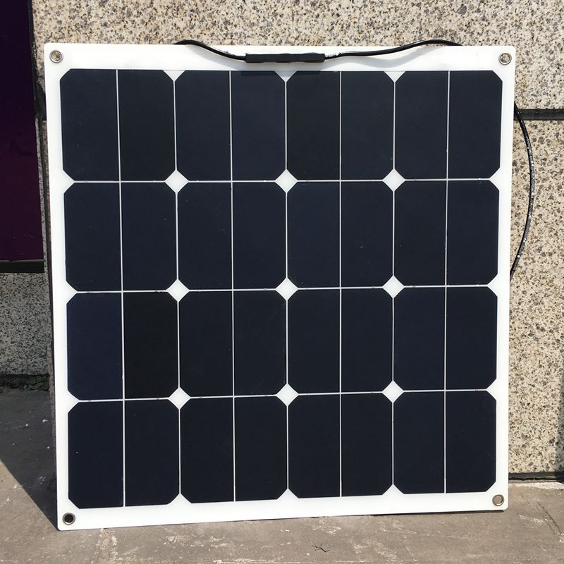 Sunpower 18V 50W Flexible Solar Panel Modules for Fishing Boat Car RV 12V Battery High Effectiveness 50W Solar Charger