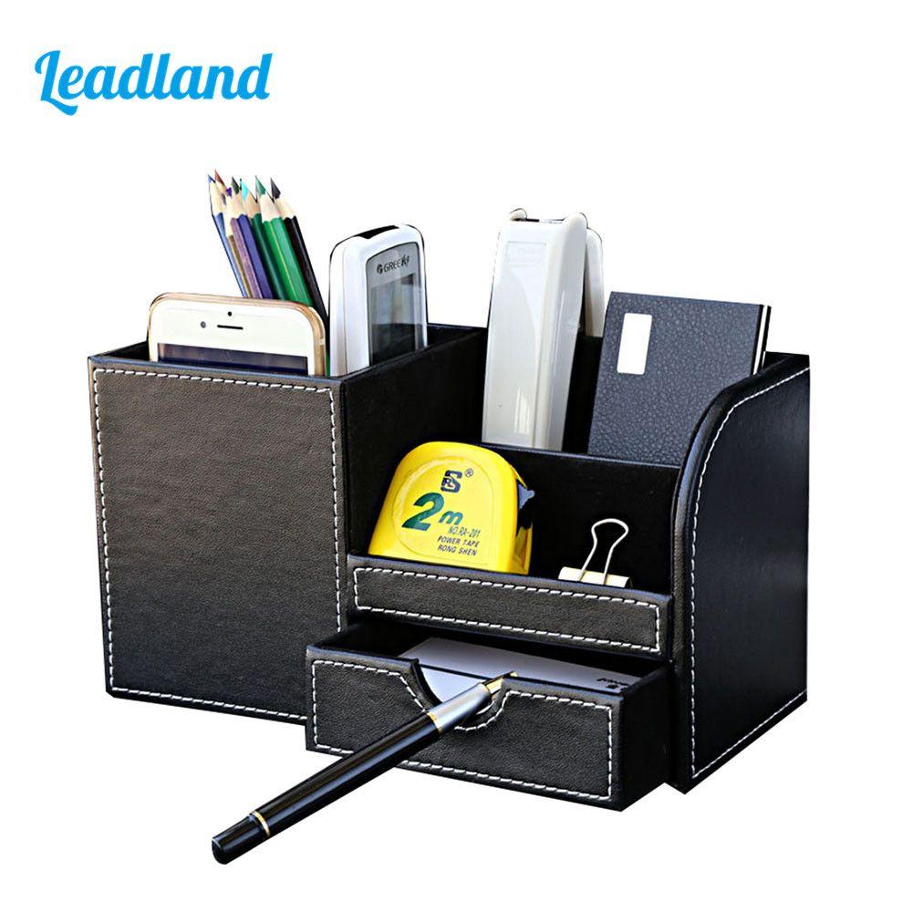 Multi-fonction bureau papeterie organisateur porte-stylo stylos Stand crayon organisateur pour bureau accessoires de bureau fournitures papeterie