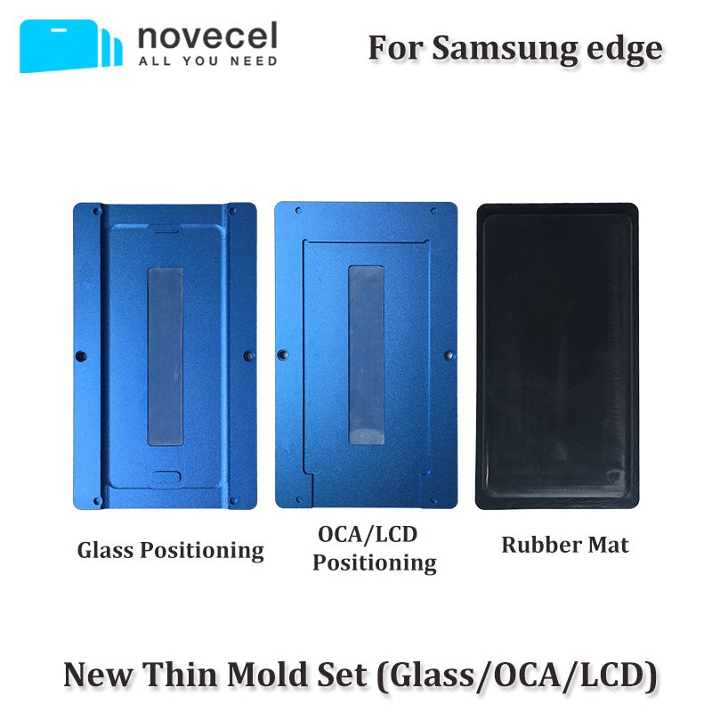 3pcs/set OCA /LCD /Glass Alignment Positioning & Laminating Mould Vacuum Laminator Universal Molds For Samsung S6/S7 edge S8 S8+