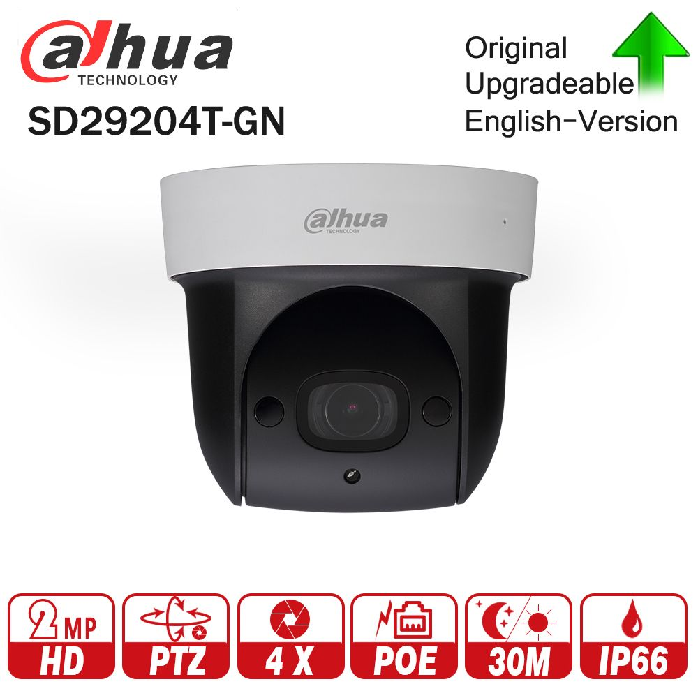 Dahua SD29204T-GN 2MP 1080P 4X Optical Zoom PTZ Network IP Camera Triple-streams 30M Night Vision ICR WDR Ultra DNR IVS POE
