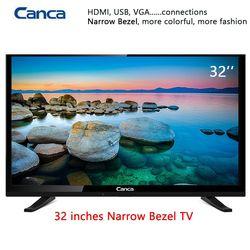 Envío libre 19/22/24/32 borde pulgadas televisión LCD LED 16:9 exploración progresiva 1366*768 sonido estéreo HDMI Home/Hotel TV