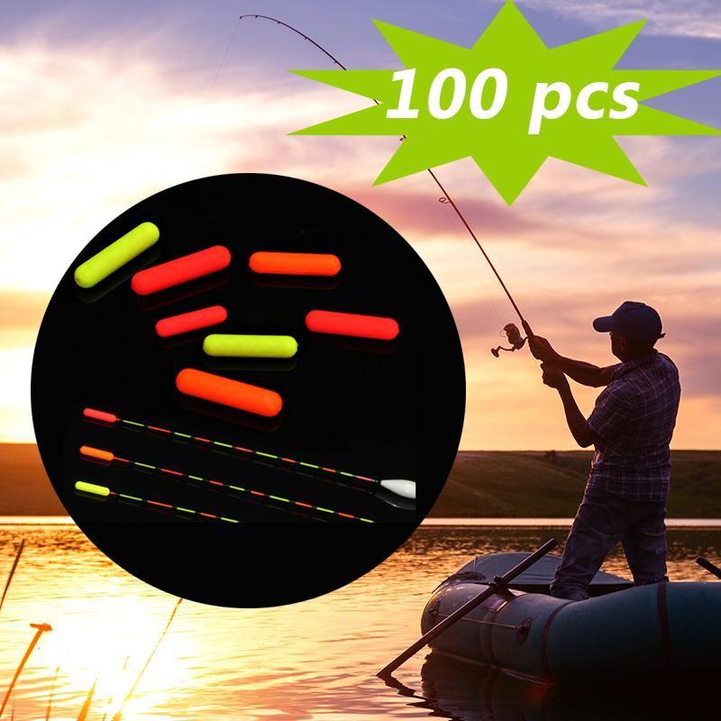 100 teile/beutel zylindrischen keine stopper mini angeln float bobber rig, der fishing schwimmdock bohnen perlen angelzubehör