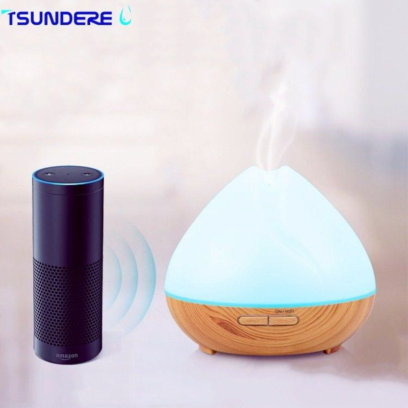 TSUNDERE L 400 ML Luftbefeuchter WiFi Smart Aroma Diffusor Ätherisches Öl Diffusor Stimme Wizard Sprachsteuerung Geeignet Für Zuhause