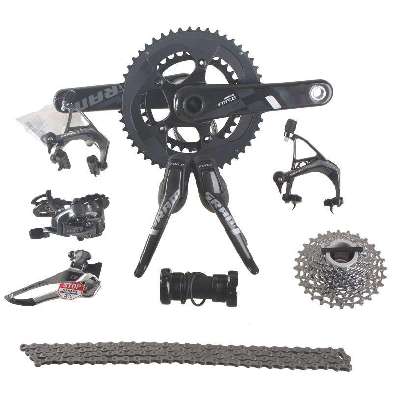 SRAM FORCE 2x11 22S Speed 50x34T 53x39T 170mm 172.5mm Carbon Road Bicycle Groupset Bike Kit