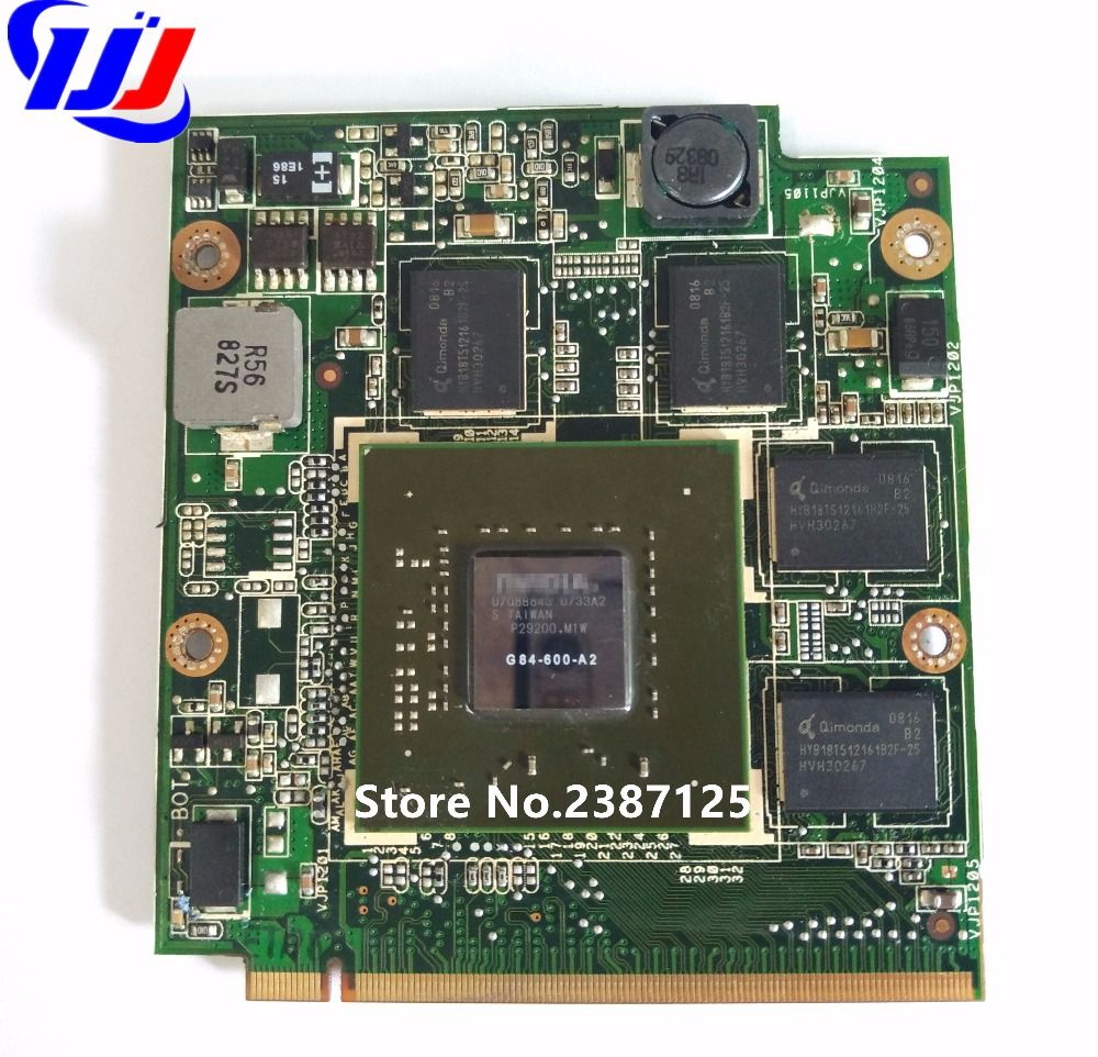 NEDVG2000 F8 NB8P 08G2041NV20I 9500 M 512 mb GS G84 625 A2 VGA Vidéo carte pour Un S U S X55S X55SV X56S F8 F8S F8SN M50SV F8SV