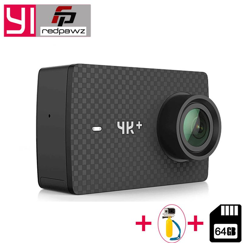 64GB SD Card For Xiaomi YI 4K Plus Action Camera 2.19' <font><b>Ambarella</b></font> H2 for SONY IMX377 12MP 155 Degree 4K+Sports Camera TouchScreen