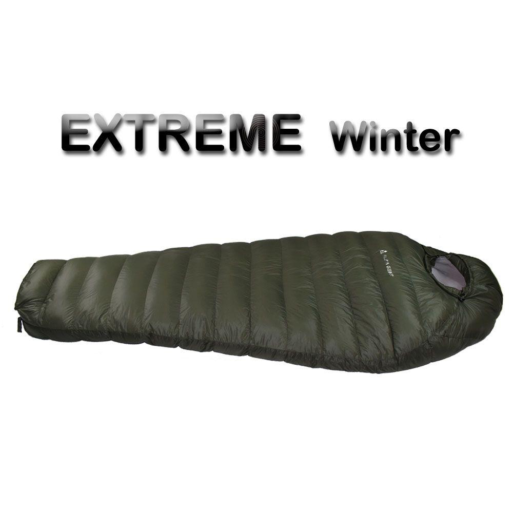 Winter Schlafsack Kalten Temperatur Schlafsack für Winter, armee Grün Ente Unten Füllung 1 kg 1,5 kg unten Schlafsack