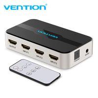 Convenio HDMI Splitter 3 entrada 1 salida 4 K 3 Puerto conmutador HDMI interruptor HDMI con Toslink Audio 3D 2160 P para Xbox 360 PS4 Smart TV