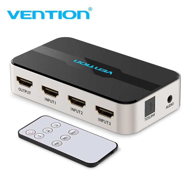 Convention séparateur HDMI 3 Dans 1 Out 4 K 3 Port HDMI Switcher Swtich HDMI avec Toslink Audio 3D 2160 P pour Xbox 360 PS4 télévision intelligente