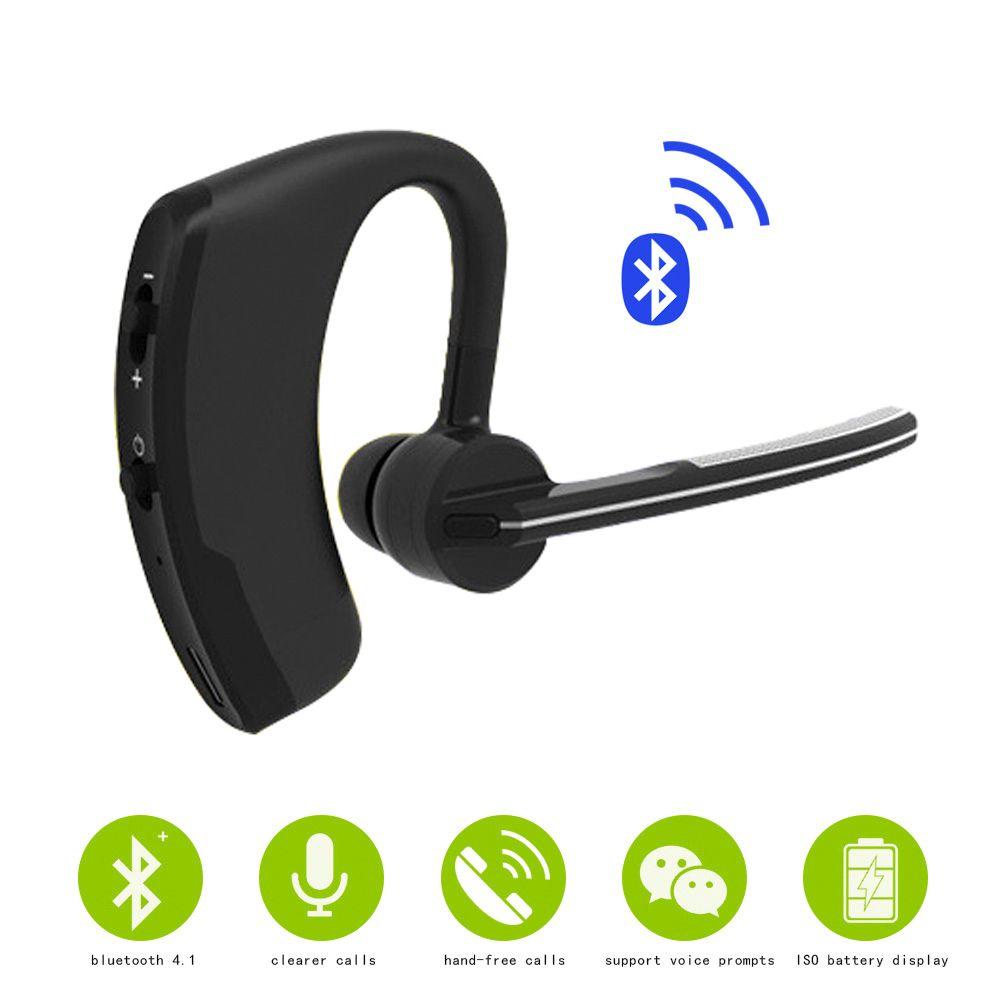 Sans fil Bluetooth headset Affaires Mains Libres Antibruit écouteurs casques Avec Micro Stéréo Pour Smartphones lecteur