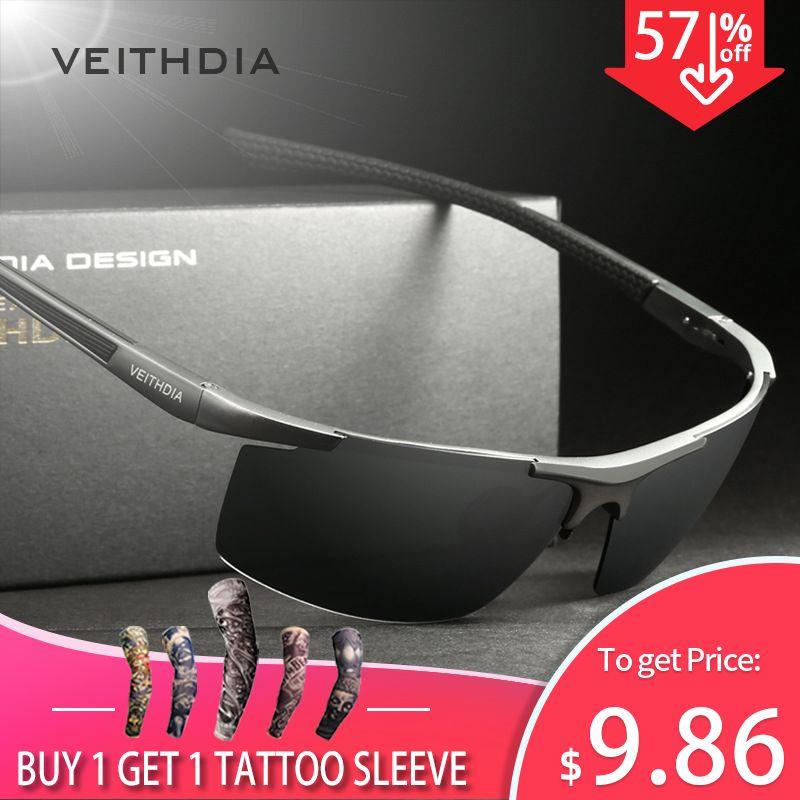 VEITHDIA Aluminum Magnesium Men's Sunglasses Polarized Coating Mirror Sun Glasses oculos Male Eyewear Accessories For Men 6588