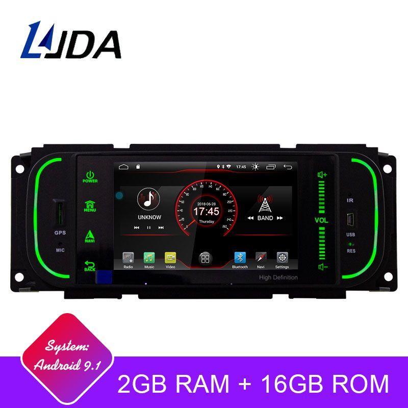 LJDA Android 9.1 1 Din Auto Radio Multimedia-Spieler GPS-Navigation Für Jeep Grand Cherokee Wrangler Sebring Dodge PT Cruiser RAM