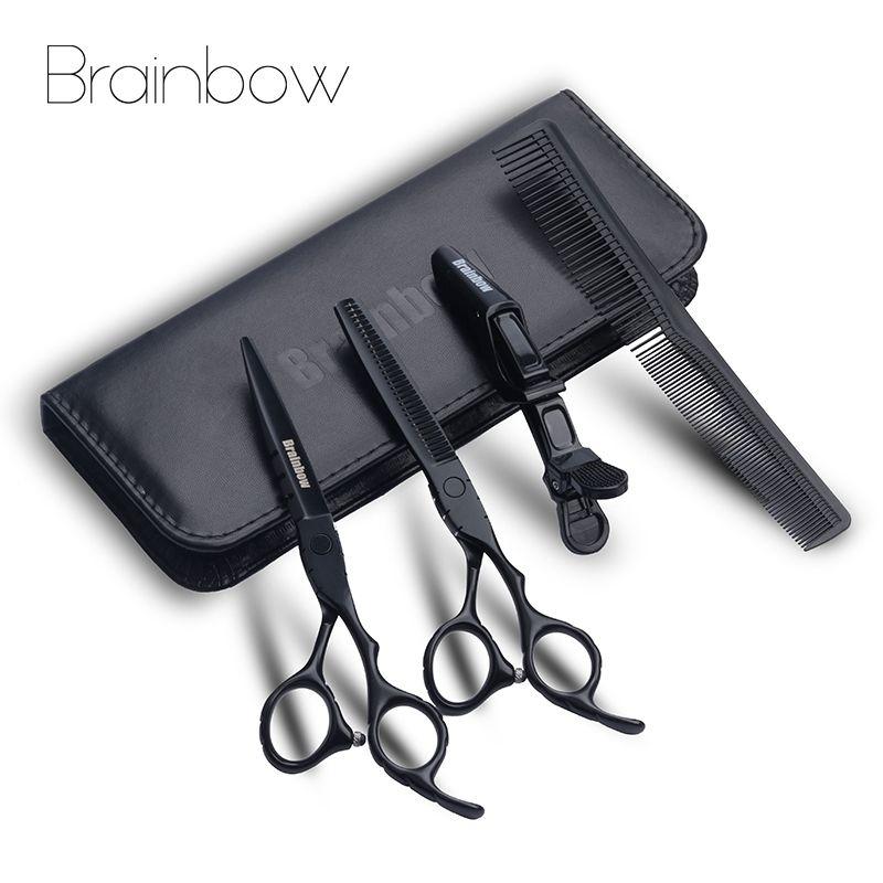 Brainbow 6.0 'japon ciseaux de coiffeur professionnel coupe de cheveux amincissement ciseaux de coiffeur ciseaux de coiffure ensemble outil de coiffure