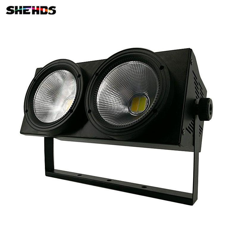 LED COB 2 augen 2x 100 W Blinder Beleuchtung DMX Bühnen Beleuchtung Effekt DMX Controller Club Zeigen Nacht DJ Disco, SHEHDS Bühne Beleuchtung