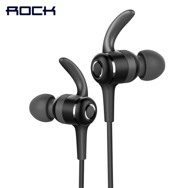 Magnetic Sports Bluetooth Earphone, ROCK Space Series IPX4 In-ear Bluetooth headset earphone with Mic