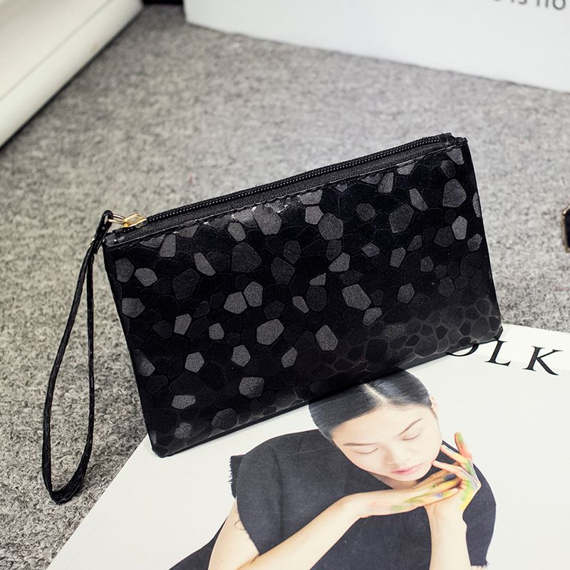 6 Color High quality Bling Stone Pattern Wallet Elegant clutch purse Cell Phone Pocket Coin Purse Pocket Coin Wallet ZLX-001