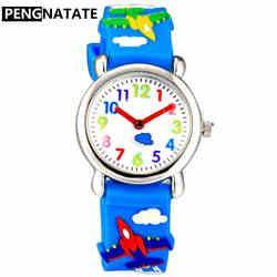 PENGNATATE Tali Silikon Jam tangan Kartun Anak-anak Menonton Laki-laki Kuarsa Jam Tangan Anak Gadis Jam Tangan Hadiah Hot Sale