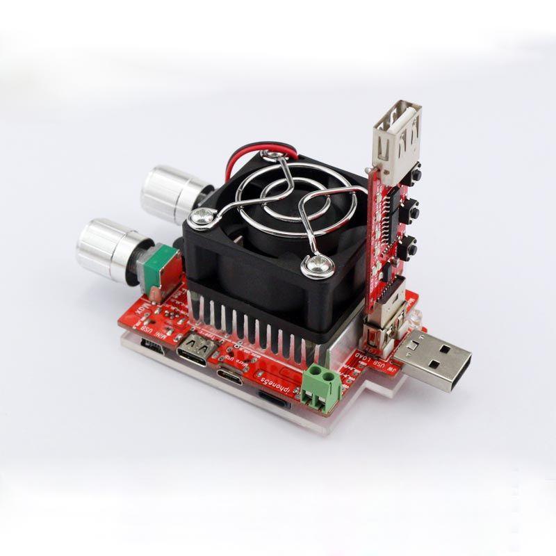 35 W courant constant double réglable électronique charge + QC2.0/3.0 déclenche rapide tension usb testeur voltmètre vieillissement décharge